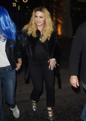 Madonna - Halloween Party at M Restaurant in London