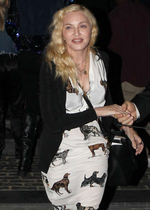 Madonna Leaves Diddy's House Party in Beverly Hills