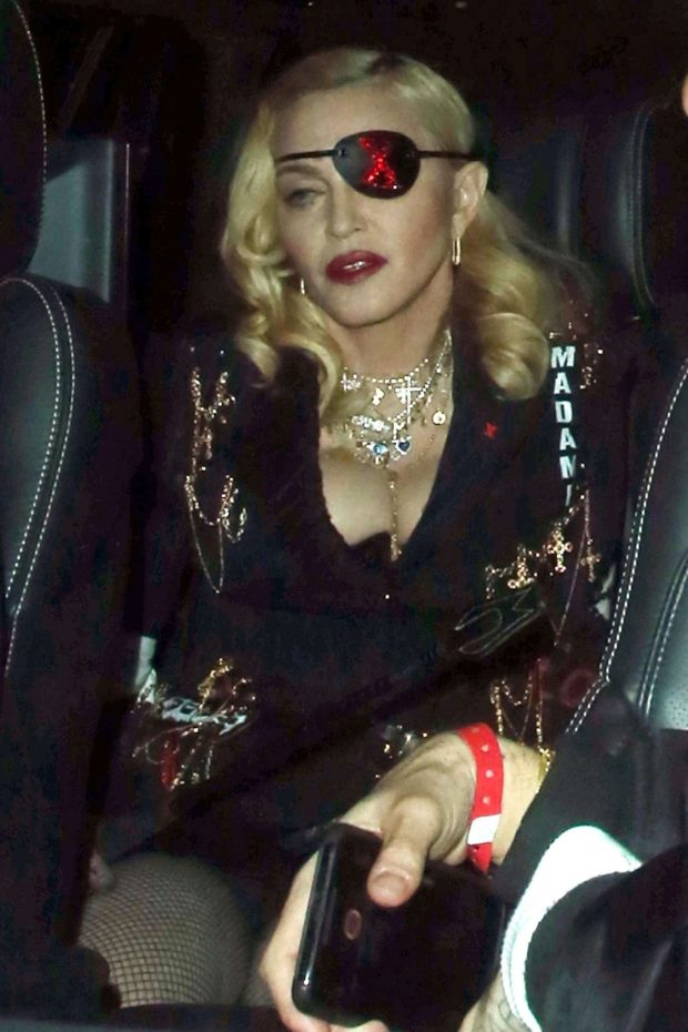 Madonna - Leaves MTV Studios in London