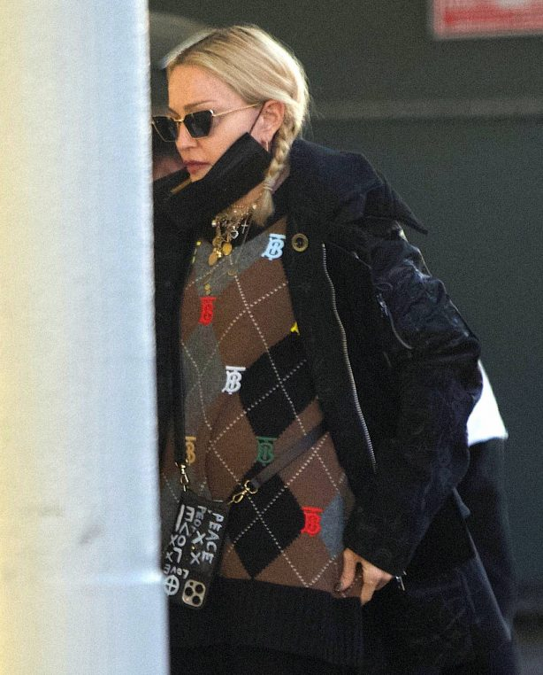 Madonna - Out in public in Brentwood