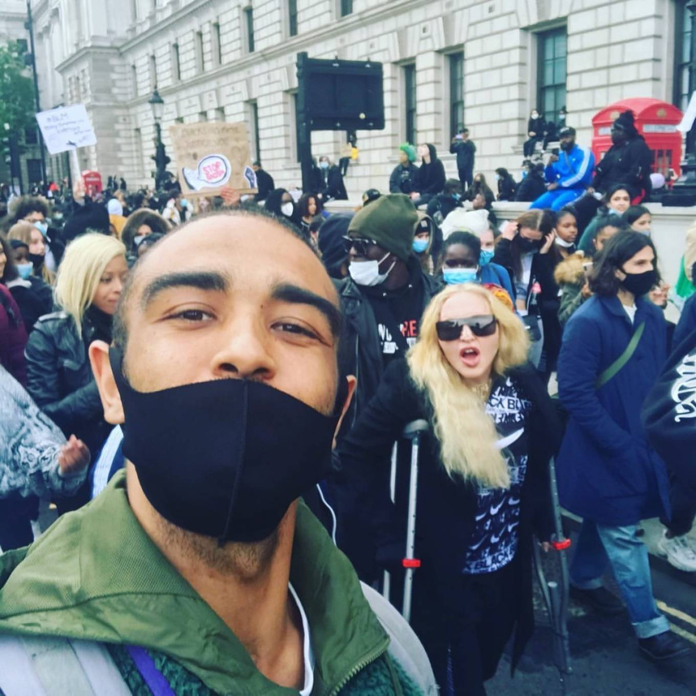 Madonna - Protest in London