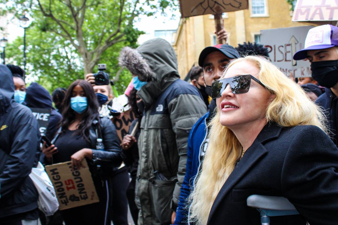 MADONNA 2020 : Madonna – Protest in London-03