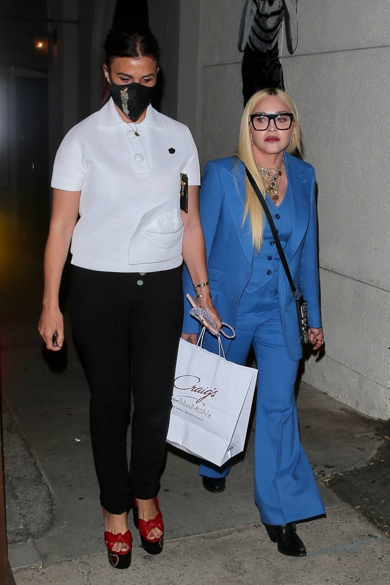 MADONNA 2021 : Madonna – Seen at celebrity hot spot Craig's in West Hollywood-01