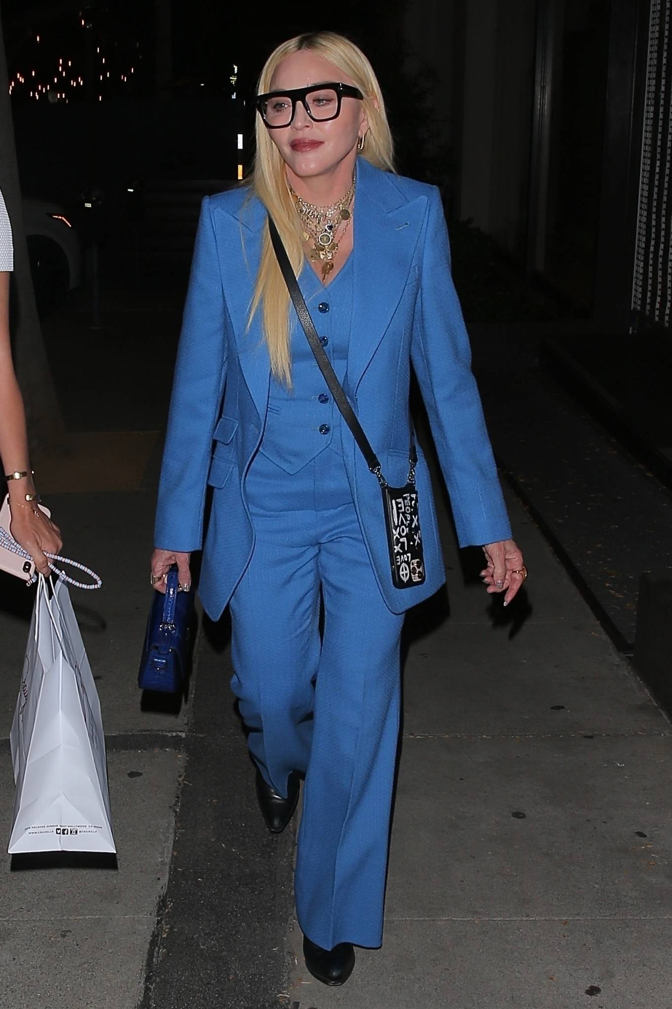 MADONNA 2021 : Madonna – Seen at celebrity hot spot Craig's in West Hollywood-03