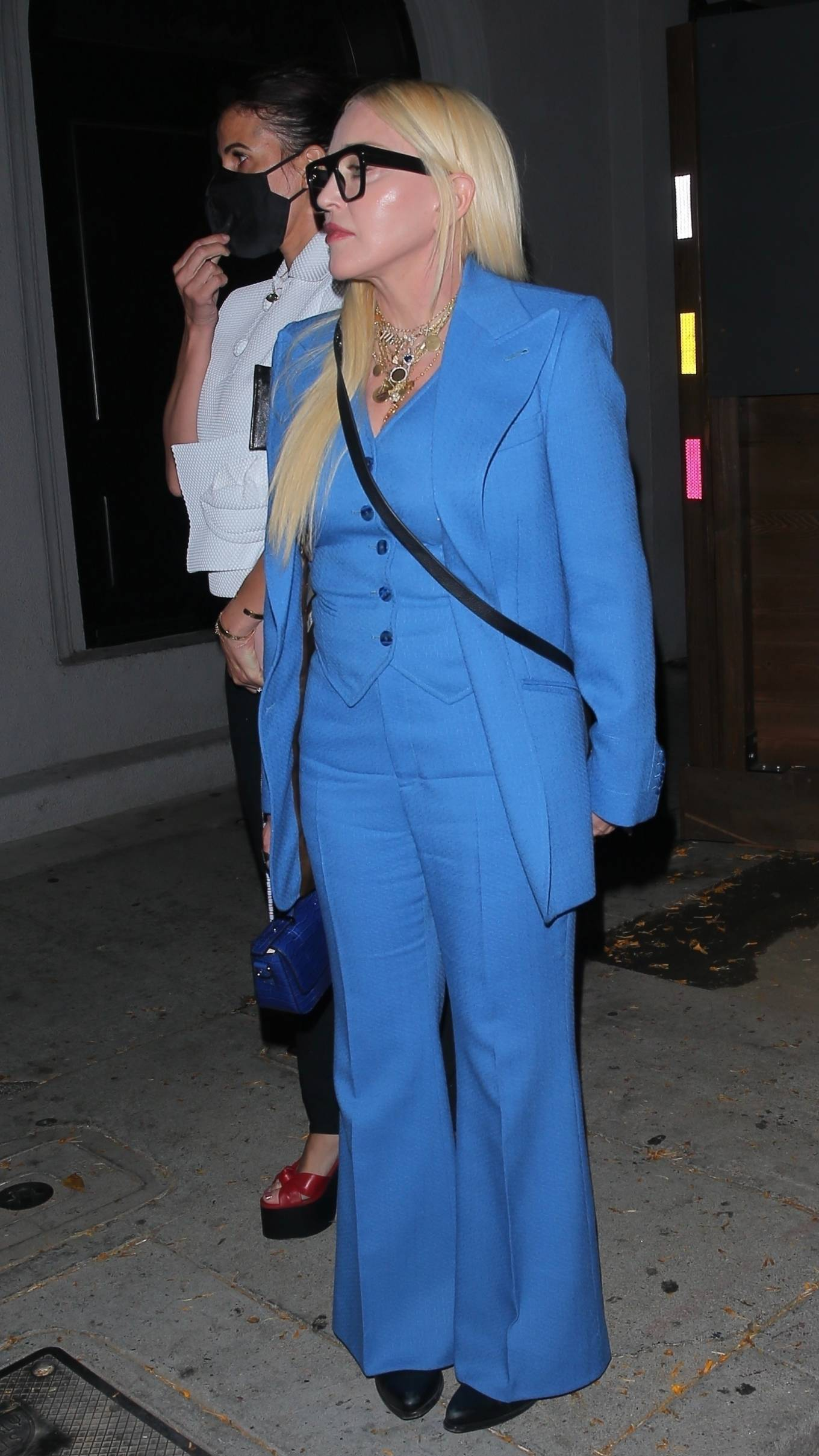 MADONNA 2021 : Madonna – Seen at celebrity hot spot Craig's in West Hollywood-04