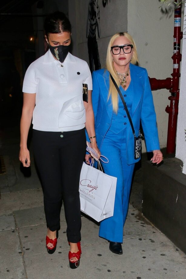 Madonna - Seen at celebrity hot spot Craig's in West Hollywood