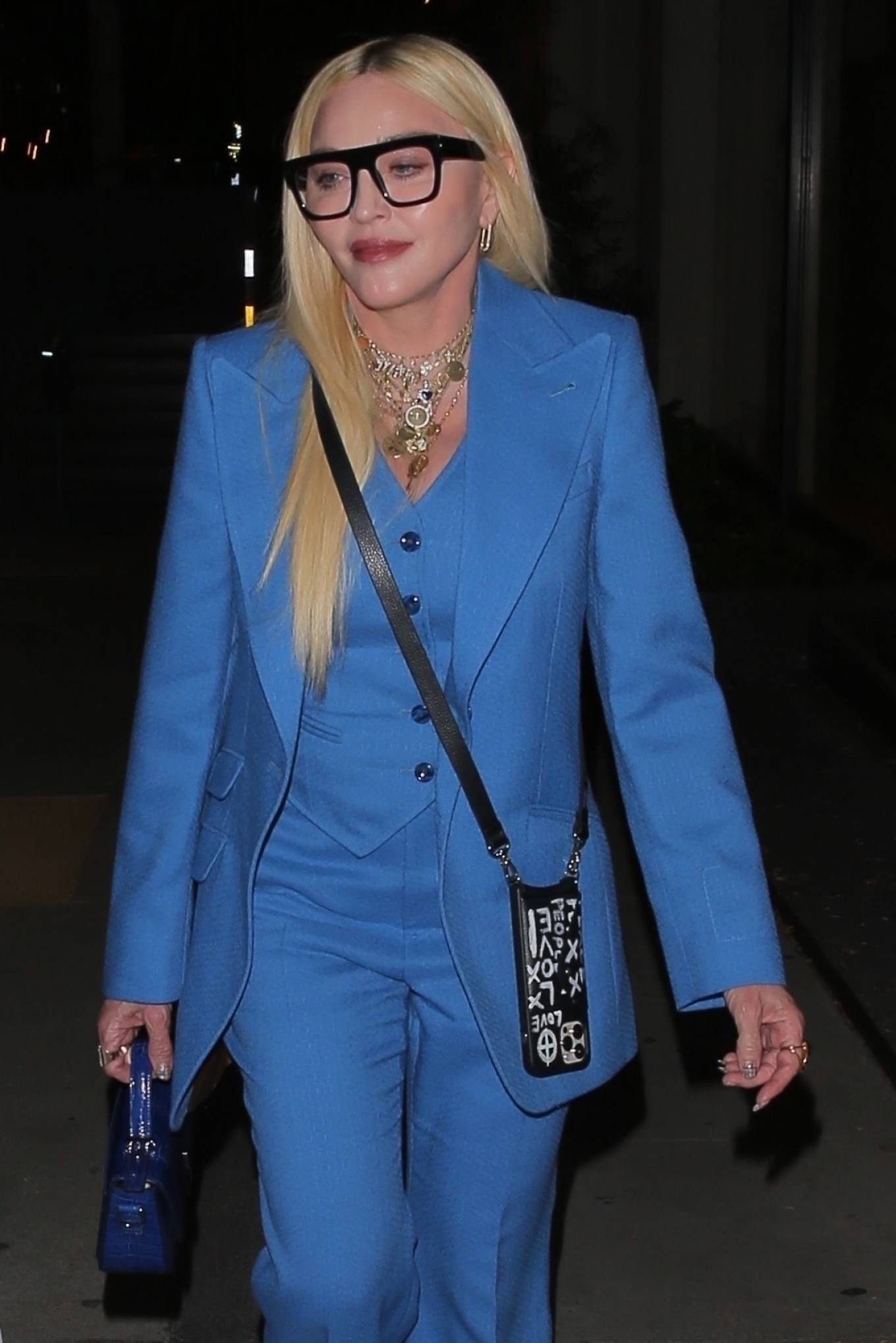 MADONNA 2021 : Madonna – Seen at celebrity hot spot Craig's in West Hollywood-07