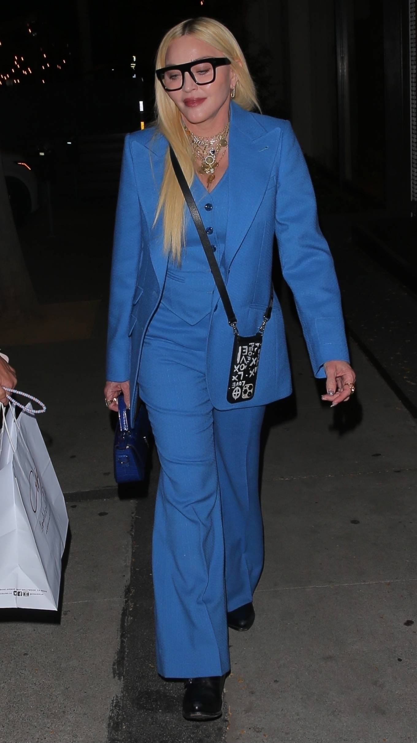 MADONNA 2021 : Madonna – Seen at celebrity hot spot Craig's in West Hollywood-12
