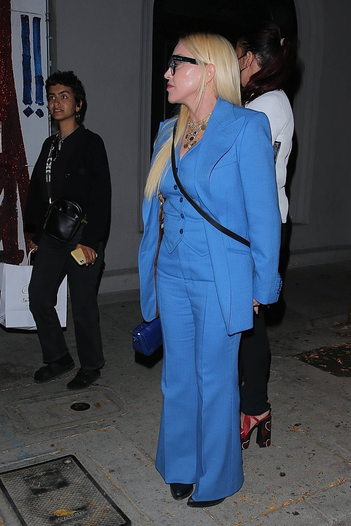 MADONNA 2021 : Madonna – Seen at celebrity hot spot Craig's in West Hollywood-16