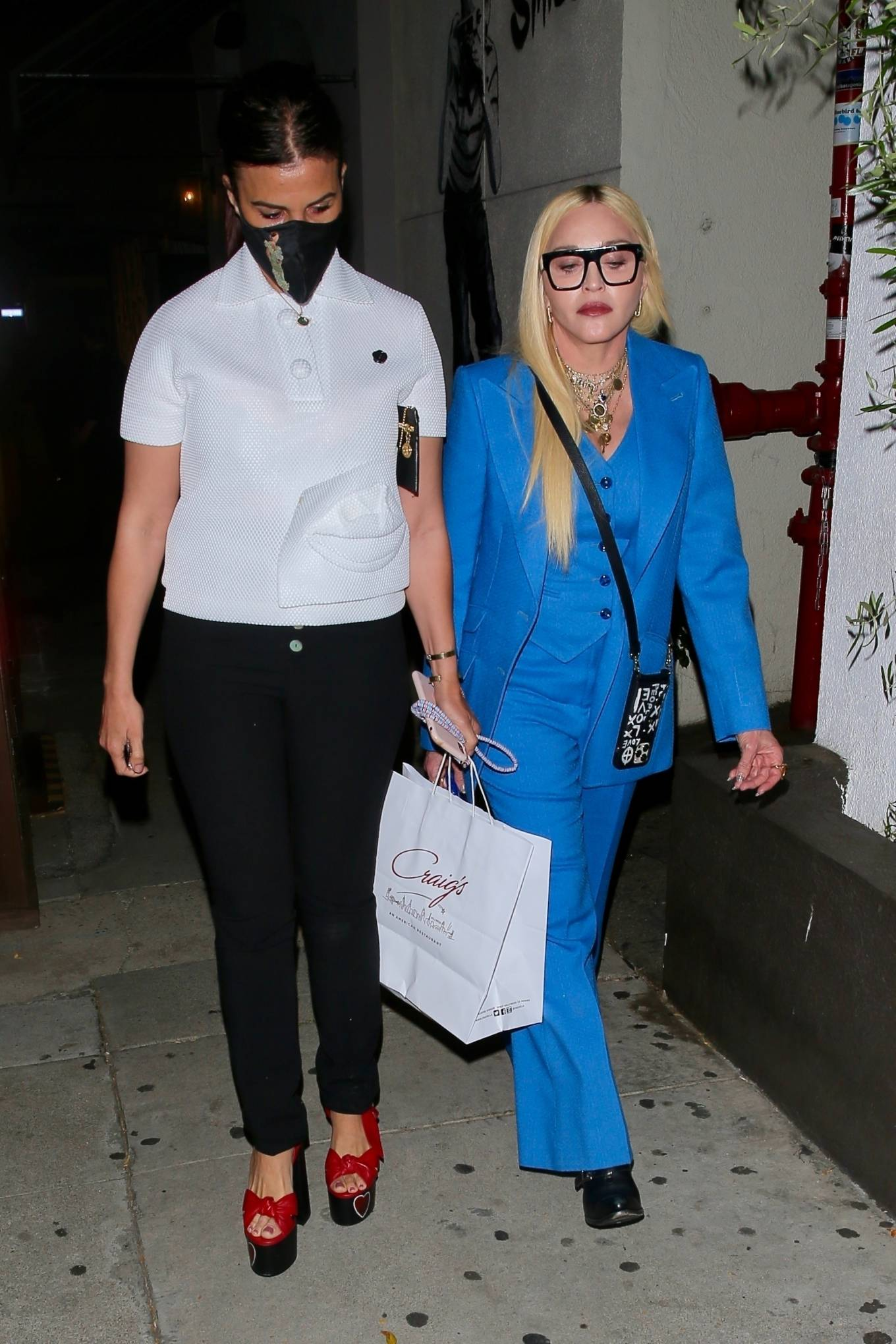 MADONNA 2021 : Madonna – Seen at celebrity hot spot Craig's in West Hollywood-17