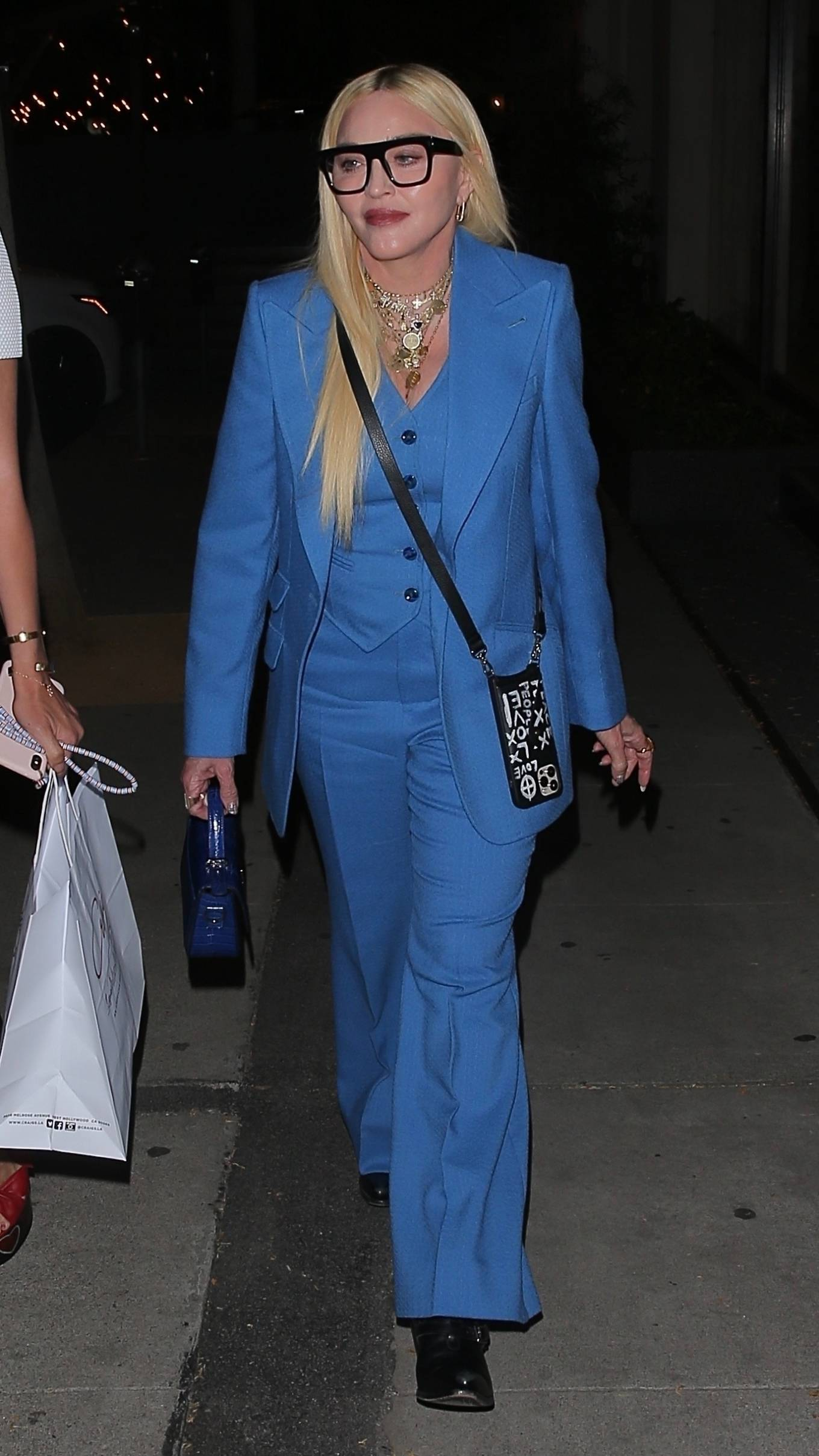MADONNA 2021 : Madonna – Seen at celebrity hot spot Craig's in West Hollywood-19