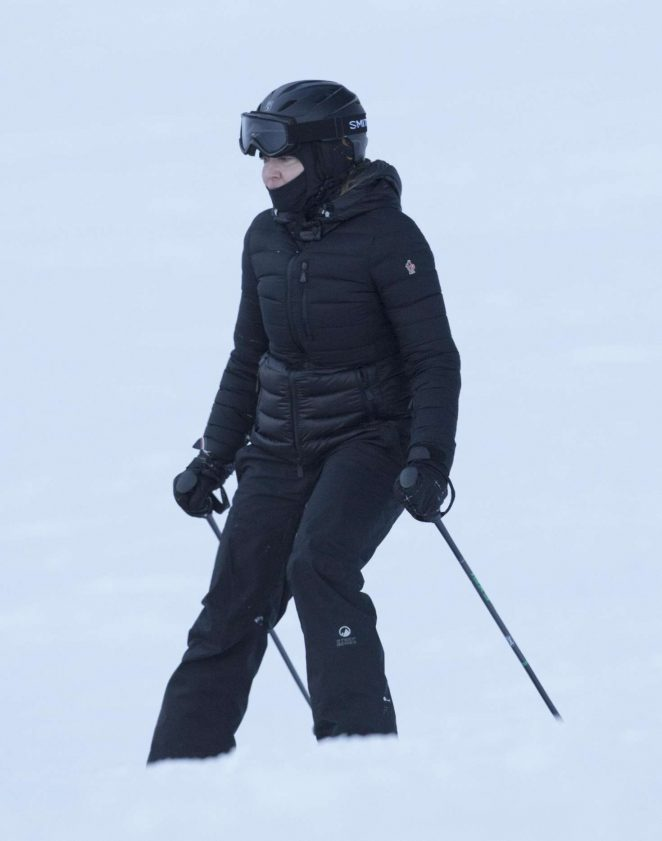 Madonna Skiing in Verbier