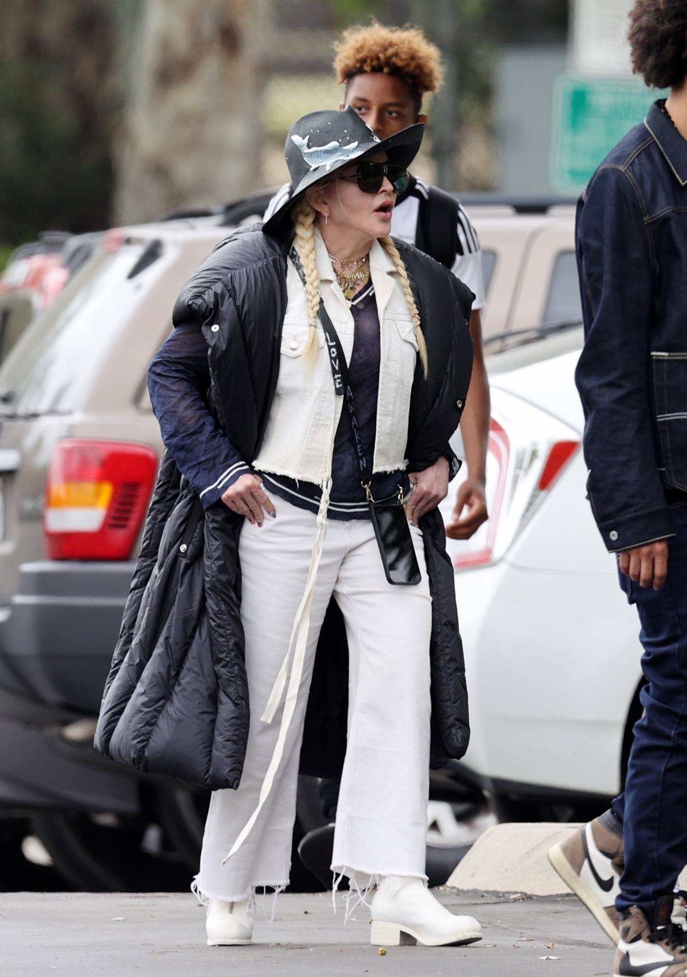 MADONNA 2021 : Madonna – With Ahlamalik Williams out in Los Angeles-01