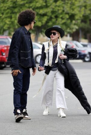 Madonna - With Ahlamalik Williams out in Los Angeles