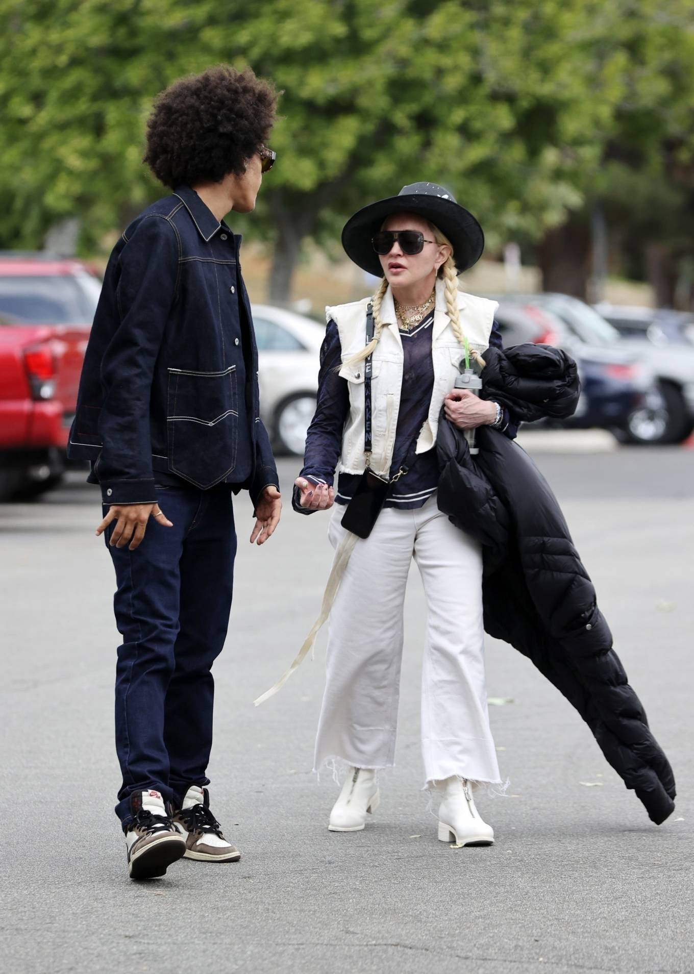 MADONNA 2021 : Madonna – With Ahlamalik Williams out in Los Angeles-02