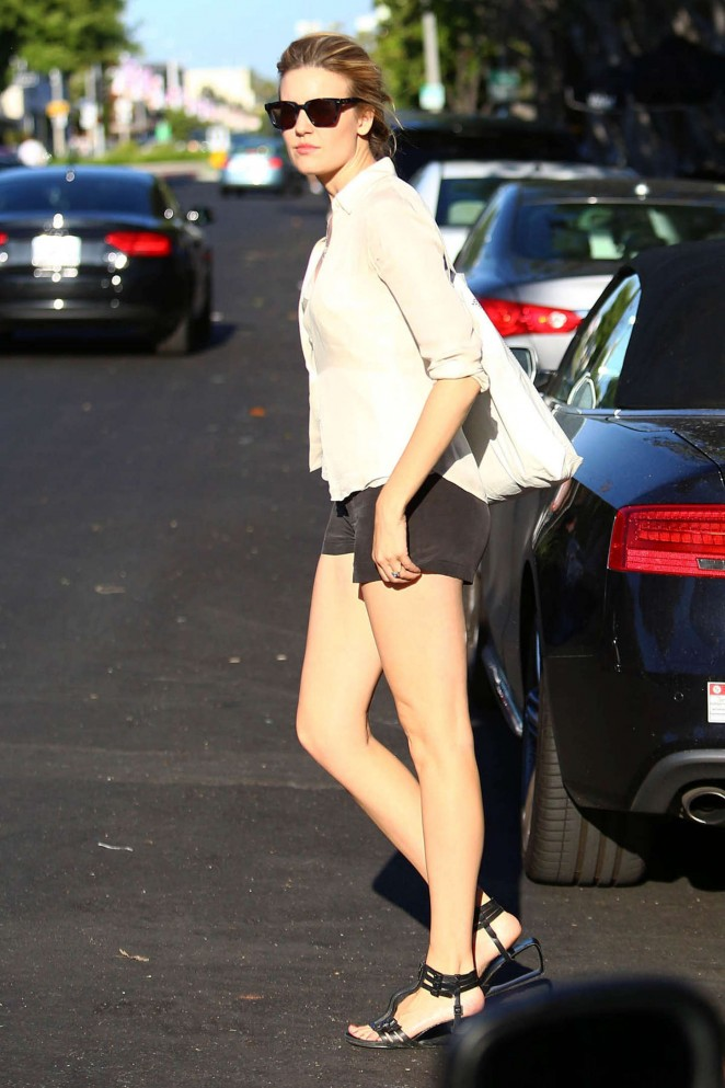 Maggie Grace in Shorts -04