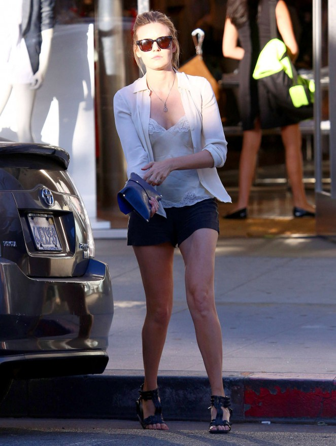 Maggie Grace in Shorts -10