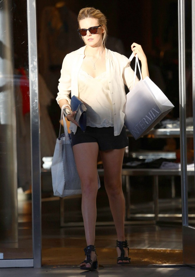 Maggie Grace in Shorts -11