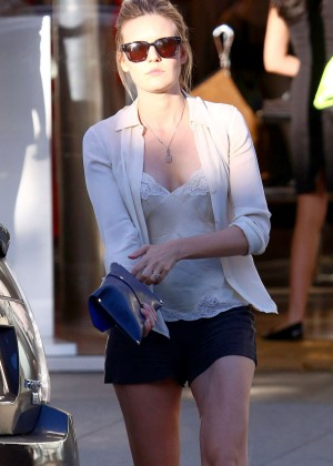 Maggie Grace in Shorts out in West Hollywood