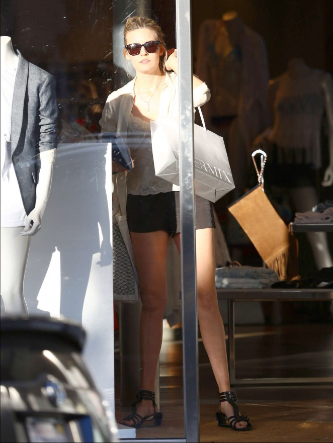 Maggie Grace in Shorts -23