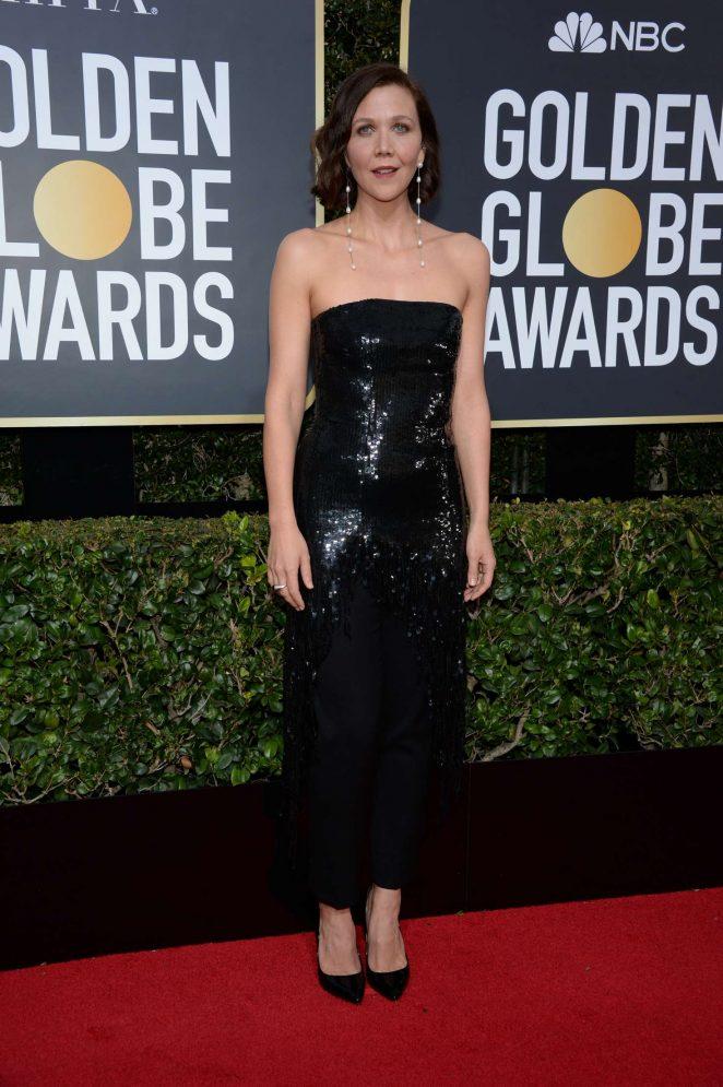 Maggie Gyllenhaal - 2018 Golden Globe Awards in Beverly Hills