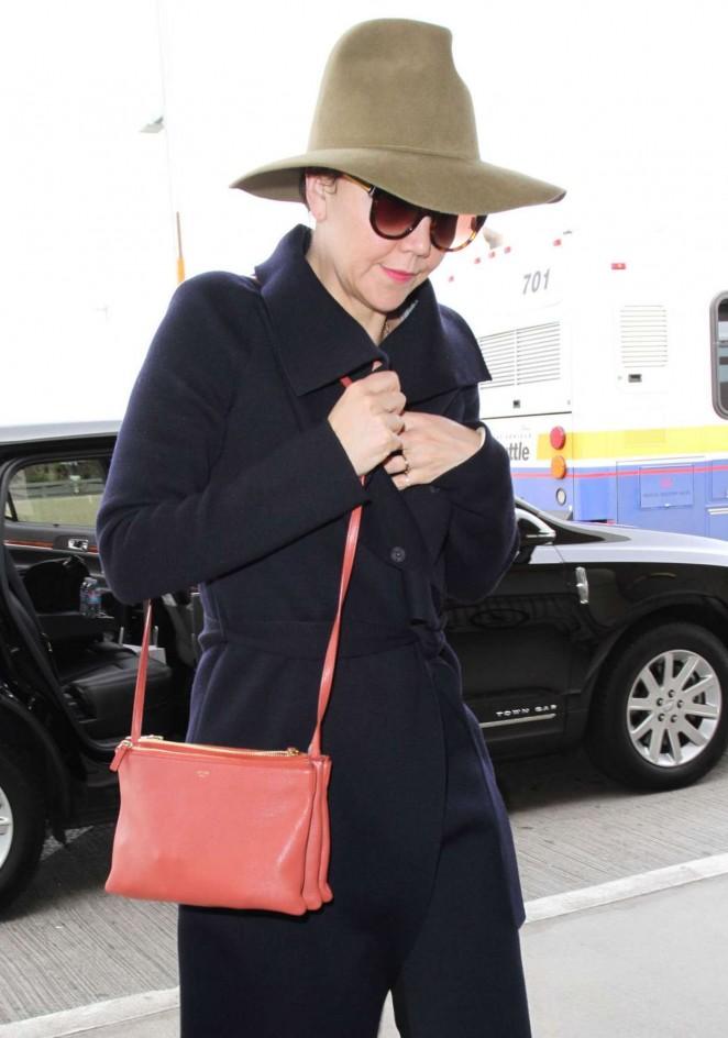 Maggie Gyllenhaal - LAX Airport in LA