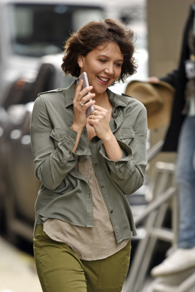 Maggie Gyllenhaal on the set of 'Inside Amy Schumer' in New York