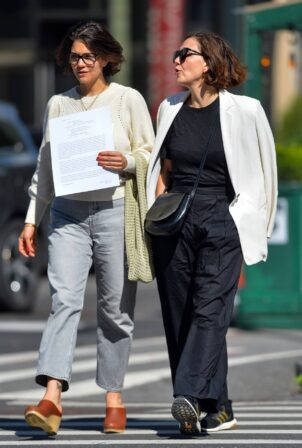 Maggie Gyllenhaal - out and about in New York