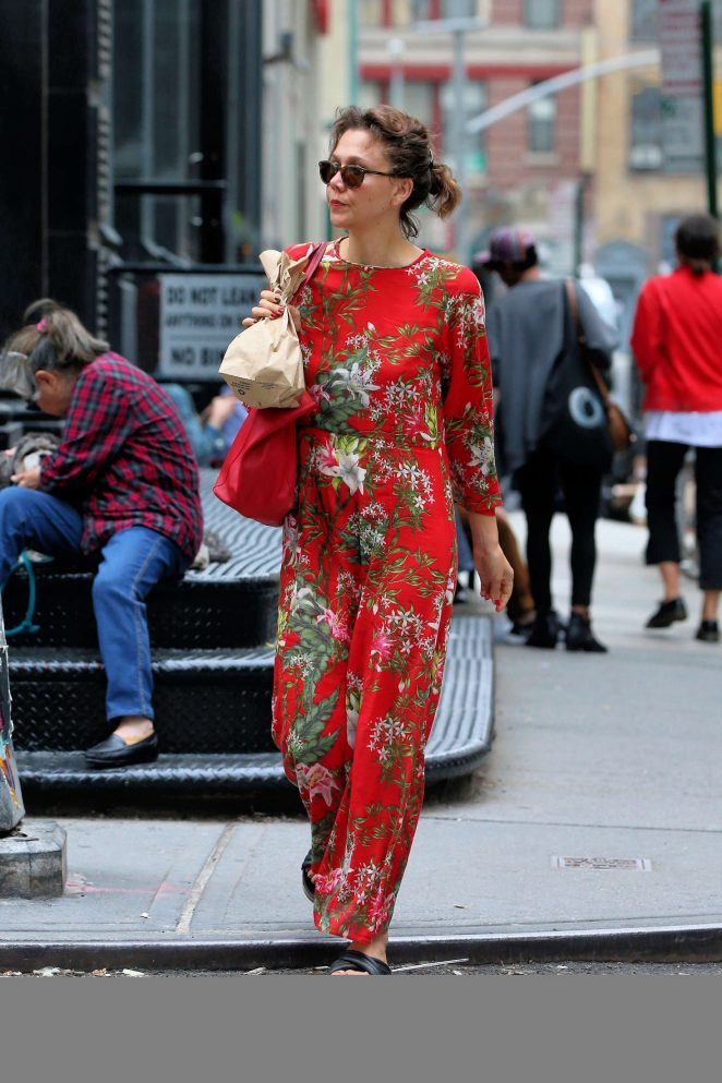 Maggie Gyllenhaal out in New York City