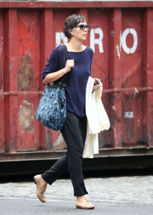 Maggie Gyllenhaal out in Tribeca