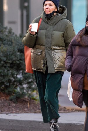 Maggie Gyllenhaal - Out on a cold day in the West Village