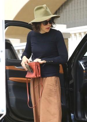 Maggie Gyllenhaal Shopping at Barneys New York in Beverly Hills