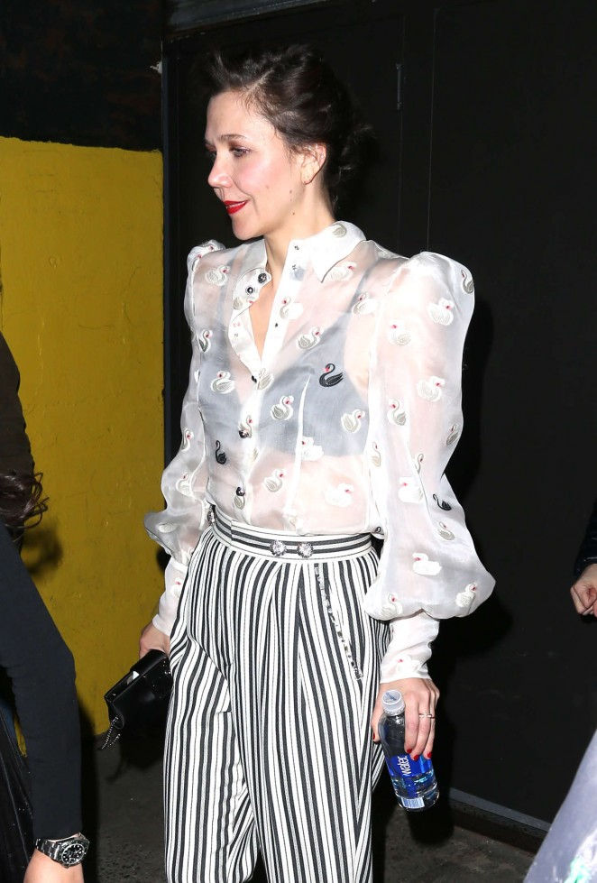 Maggie Gyllenhaalr - Marc Jacobs 2016 Fashion Show in NYC