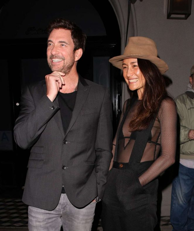 Maggie Q and Dylan Mcdermott at Craig's in West Hollywood