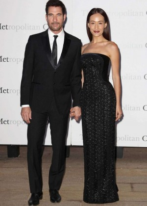 Maggie Q and Dylan McDermott - Opening night of 'Otello' at the Metropolitan Opera House in NYC