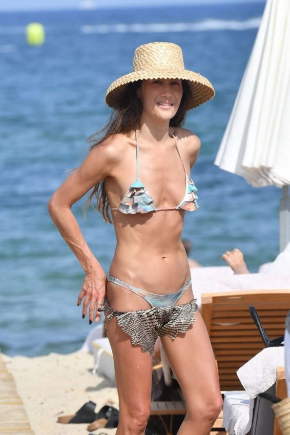 Maggie Q in Bikini on the beach in St. Tropez