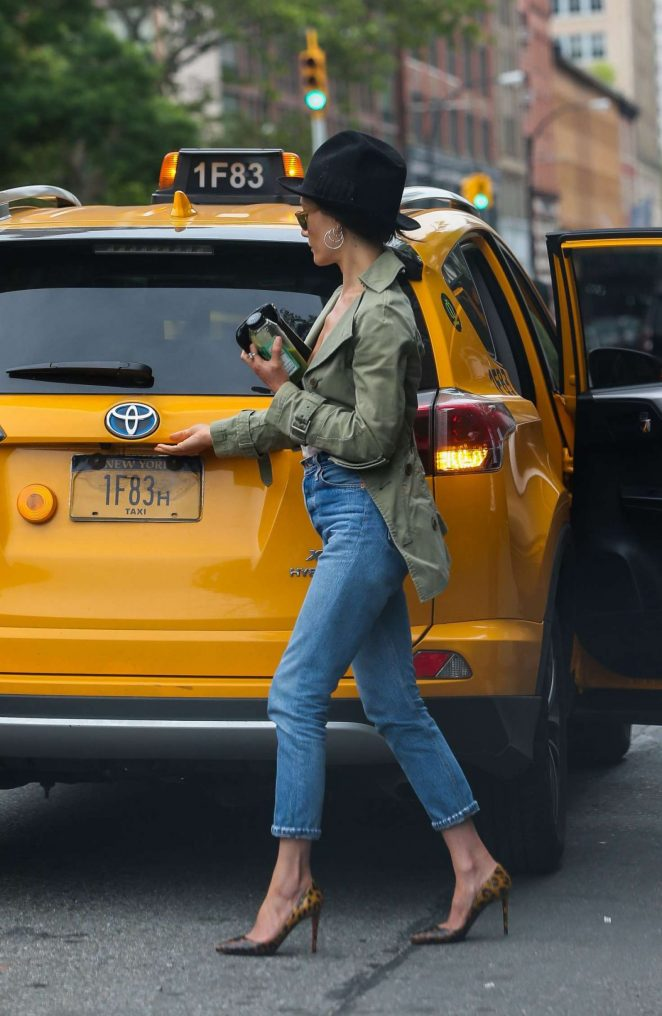 Maggie Q in Jeans Out in New York