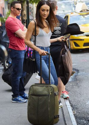 Maggie Q - Leaving Her Hotel in New York