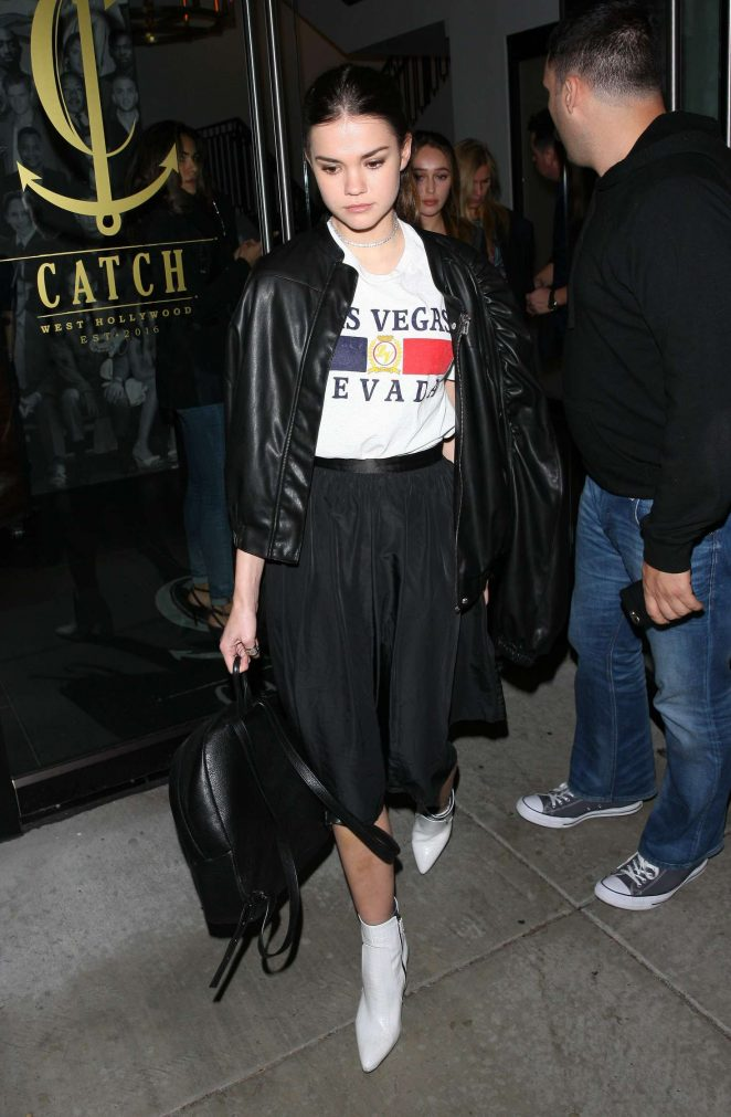 Maia Mitchell at Catch LA in West Hollywood