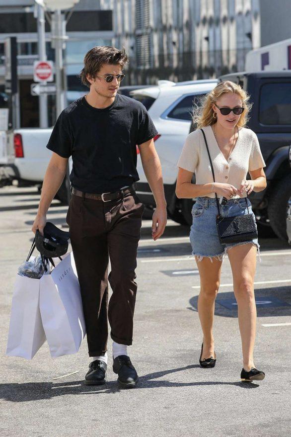 Maika Monroe and Joe Keery - Shopping at Sandro in Beverly Hills