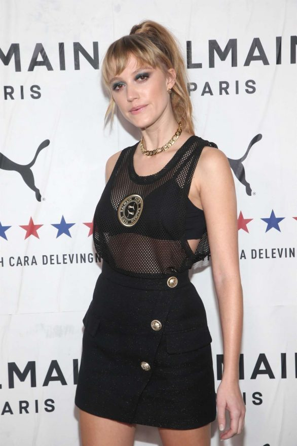 Maika Monroe - PUMA x Balmain Launch Event in Los Angeles