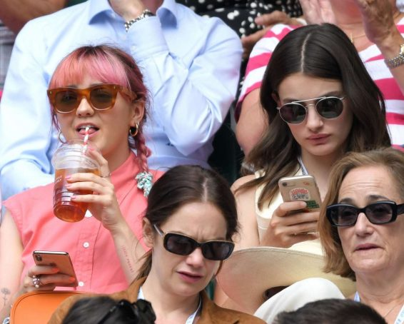 Maisie Williams and Diana Silvers - Wimbledon Tennis Championships 2019 in London