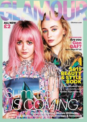 Maisie Williams and Sophie Turner - Glamour Magazine (March 2019)