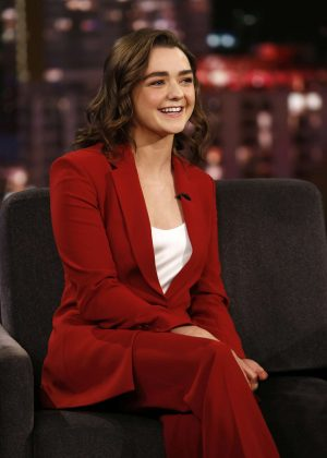 Maisie Williams at Jimmy Kimmel Live! in Los Angeles