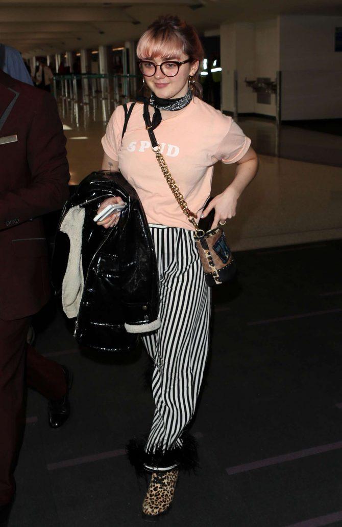 Maisie Williams at Los Angeles International Airport in LA