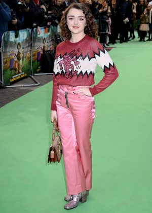 Maisie Williams - 'Early Man' Premiere in London