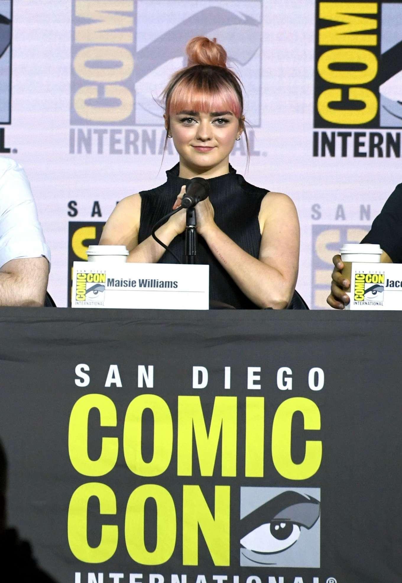 Maisie Williams 2019 : Maisie Williams – Game of Thrones Panel at Comic Con San Diego 2019-02