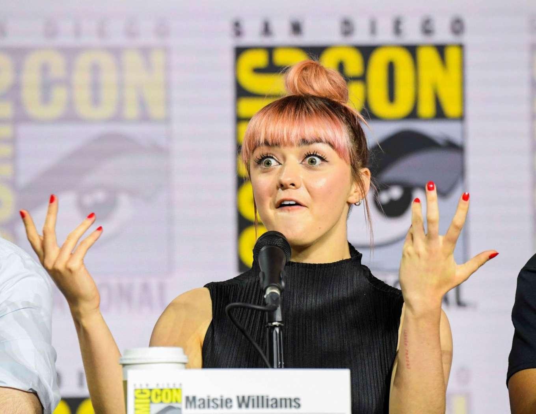 Maisie Williams 2019 : Maisie Williams – Game of Thrones Panel at Comic Con San Diego 2019-04