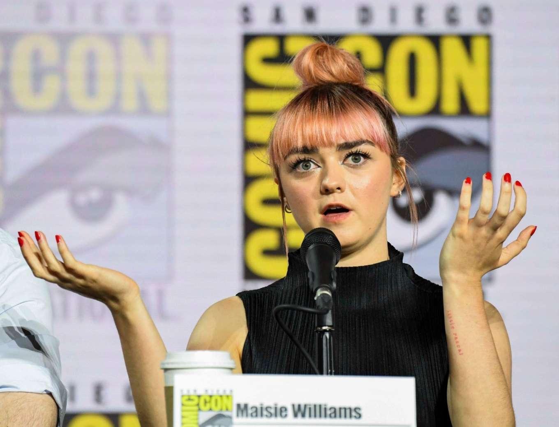 Maisie Williams 2019 : Maisie Williams – Game of Thrones Panel at Comic Con San Diego 2019-20