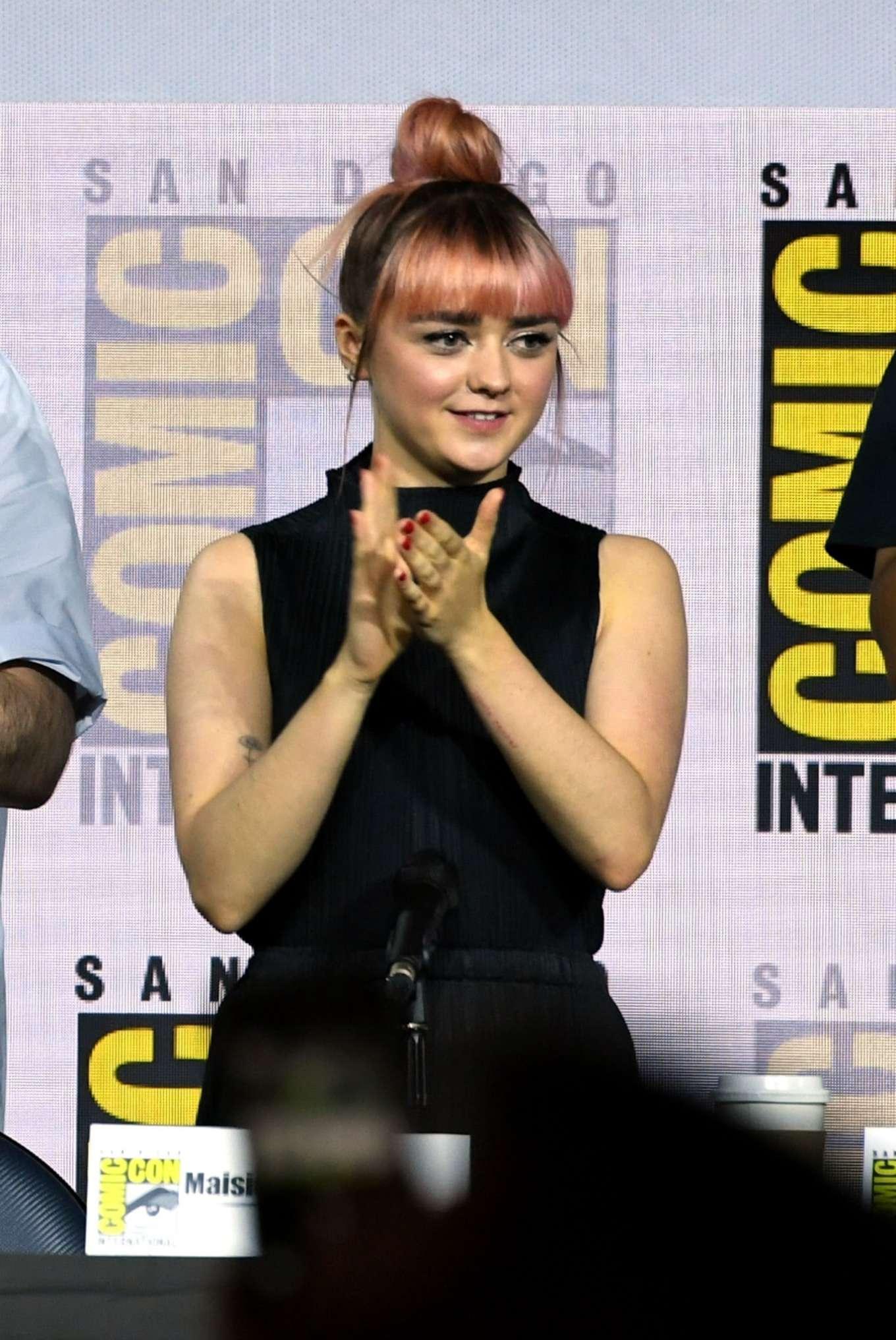 Maisie Williams 2019 : Maisie Williams – Game of Thrones Panel at Comic Con San Diego 2019-21